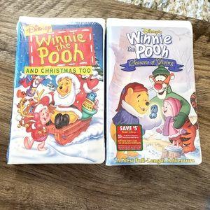 Vintage Disney Winnie the Pooh VHS Lot Christmas
